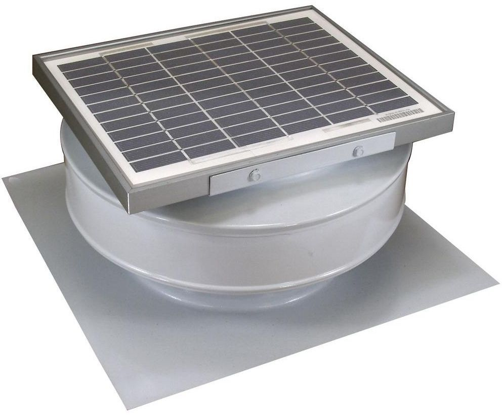 Active Ventilation 365 Cfm White Solar Powered Roof Mounted Exhaust Attic Fan Activeventilation Attic Fan Solar Powered Attic Fan Solar Power Diy
