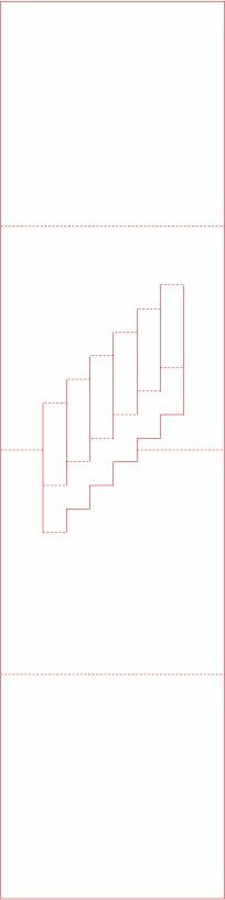 free pop up staircase pattern from the new book the packaging and