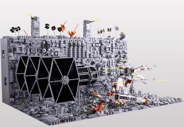 レゴ作りの『スター・ウォーズ』初代デス・スターの最後2