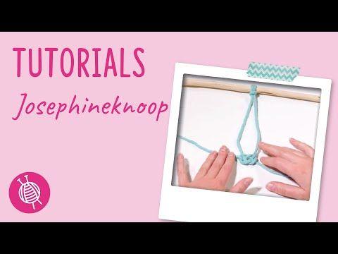 Josephine knoop – Macramé knopen – Wolplein.nl