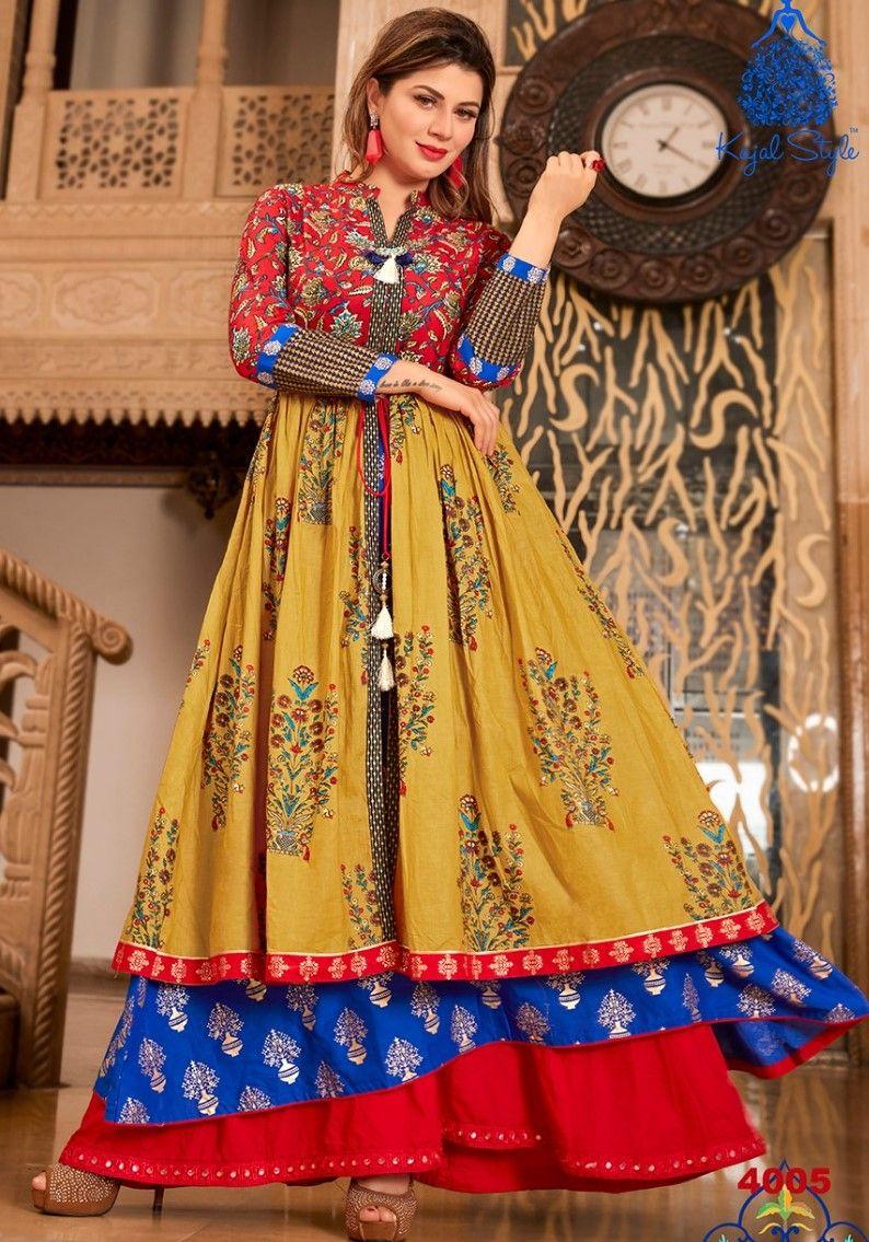 f4450688c8 Presenting latest collections of Kajal Style Mumtaz Vol-4 Reyon Kurti  Catalog name: Mumtaz