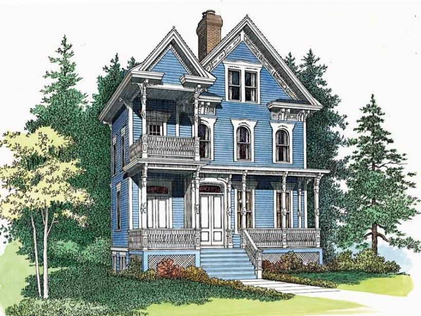 Queen Anne House Plan with 2566 Square Feet and 3 Bedrooms from