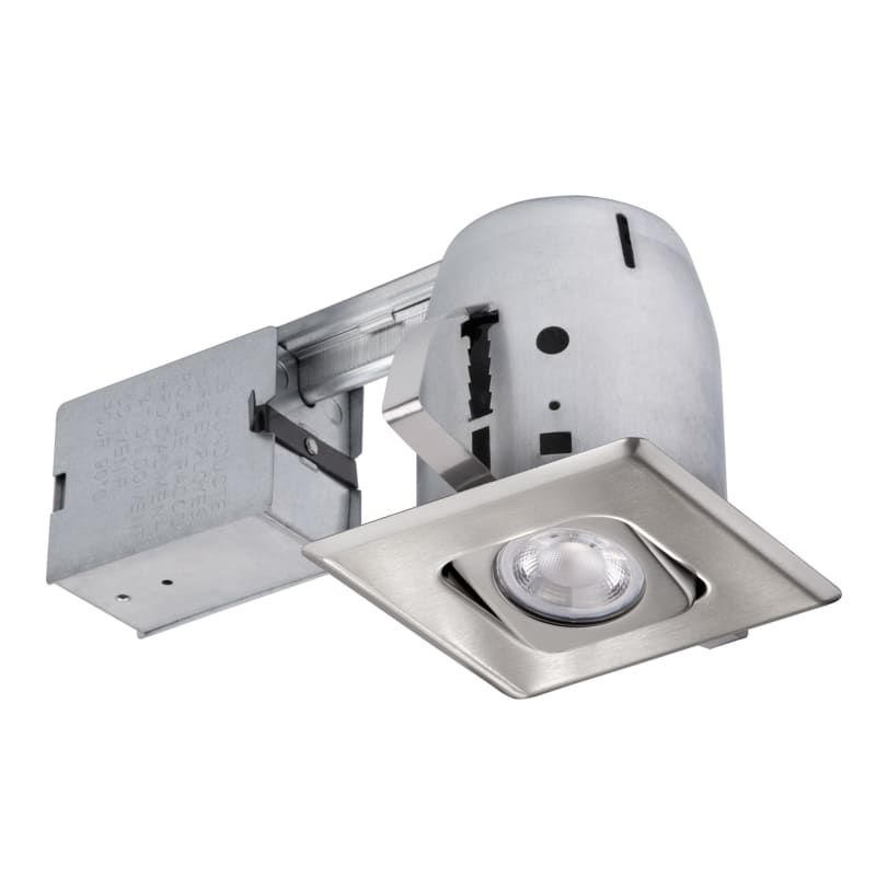 Globe Electric 90039 1 Light Recessed Lighting Kit Includes Trim Housing Can Brushed Nickel Recessed Lights Trim And Housing Package Adjustable Recessed Lighting Kits Lighting Brushed Nickel