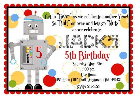 Robot invite robot invitation robot birthday invitation robot robot invite robot invitation robot birthday invitation robot party invitation lets go nuts boy robot birthday party party invitations filmwisefo Gallery