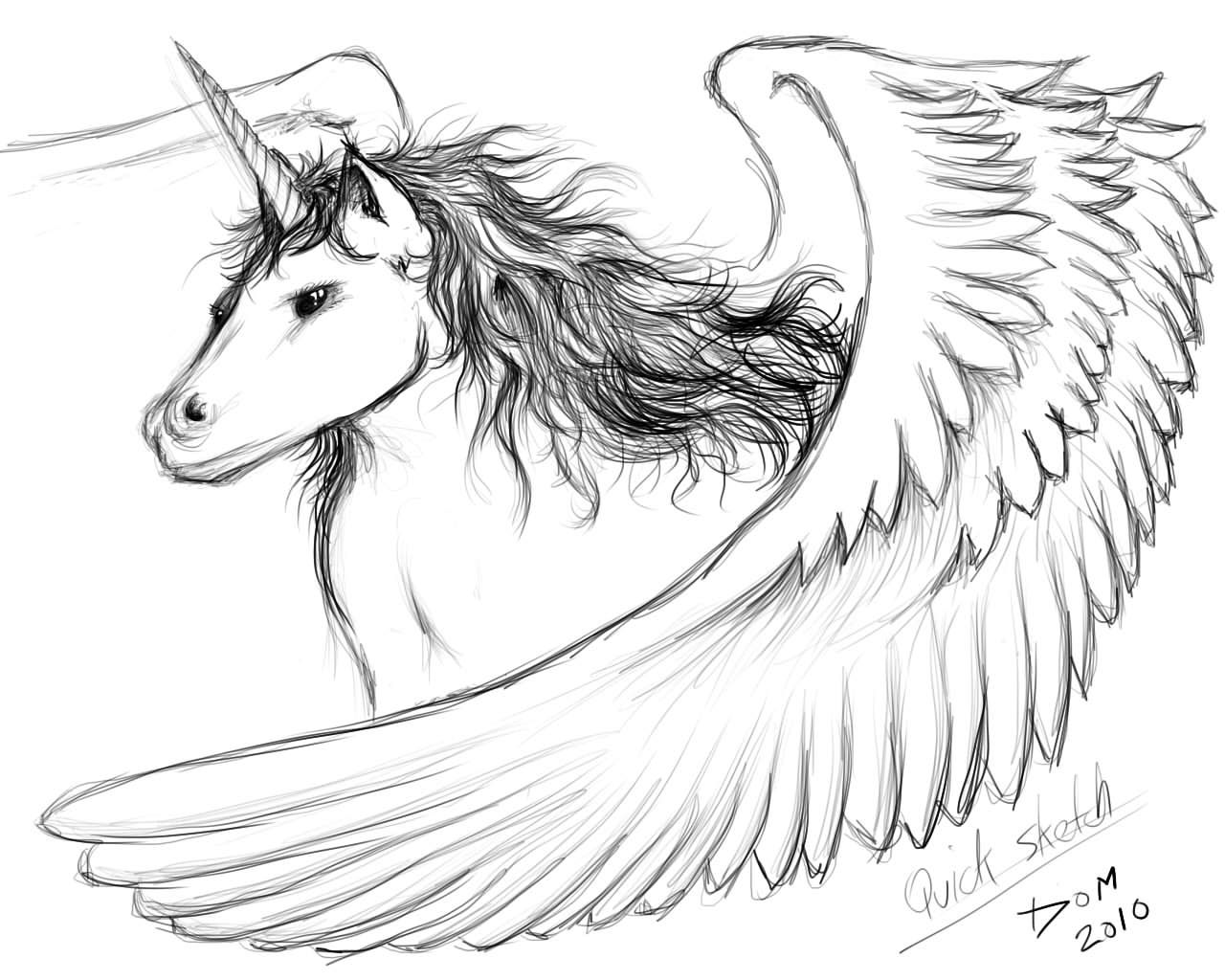 unicorn with wings coloring pages - unipeg sketch by thatdomguy on deviantart pegasus unicorn