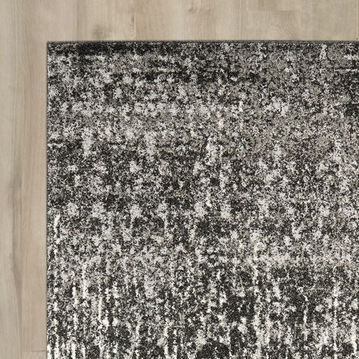 Trent Austin Design Twentynine Palms Black / Light Grey Area Rug