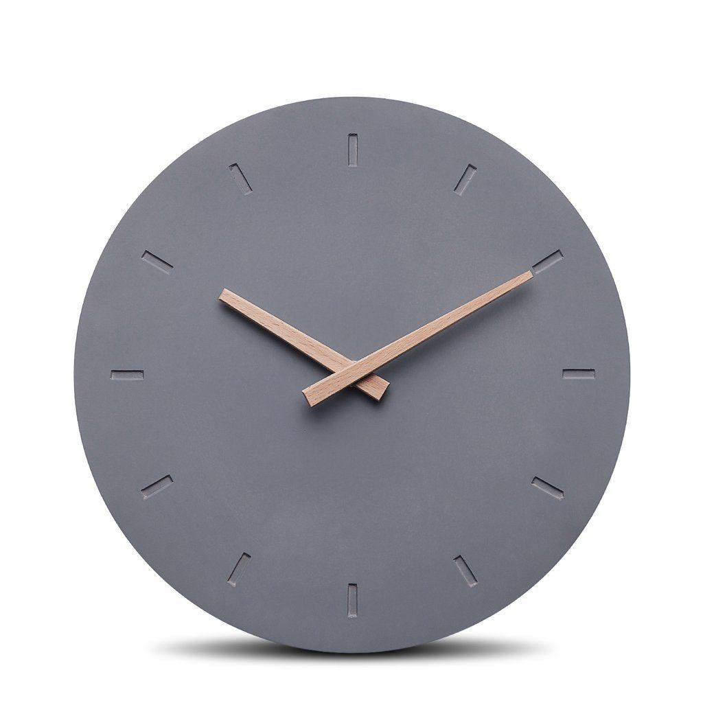 Geräuschlose Uhr Aus Beton Mit Holzzeigern Und Lautlosem Uhrwerk Keine Versandkosten Kostenlose Retoure 30 Tage Schwarze Wanduhren Wanduhr Wanduhr Design