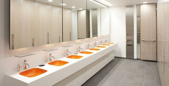 Extreme contact free faucet inspiring public toilets - Commercial interior design codes ...