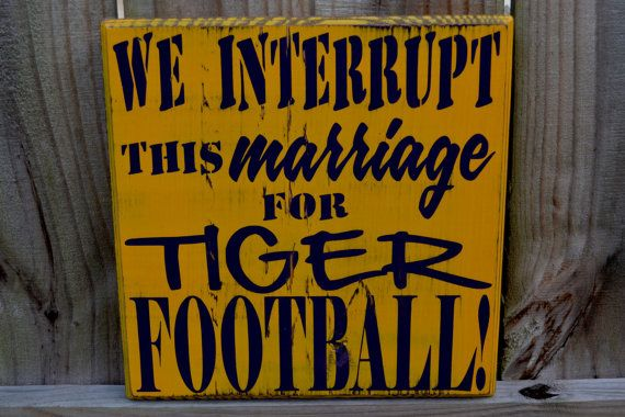 Man Cave Football Signs : We interrupt this marriage to bring you football man cave custom
