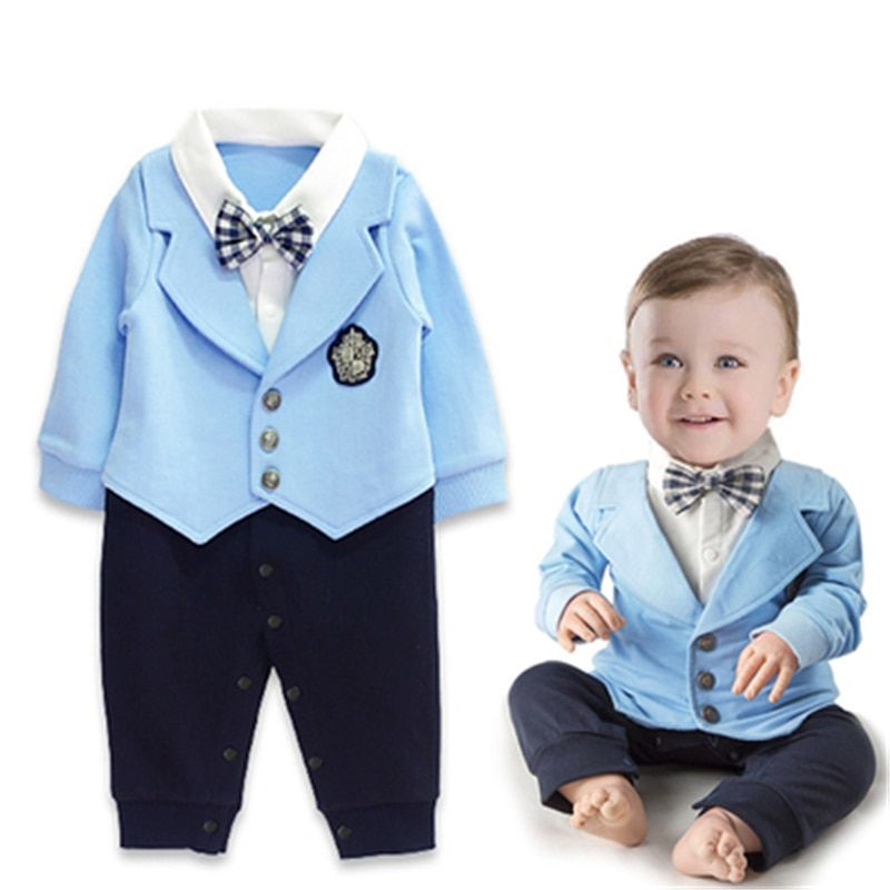 3bccd9ab9af1 Toddler Baby Rompers Autumn Baby Boys Clothing Sets Cotton Newborn ...