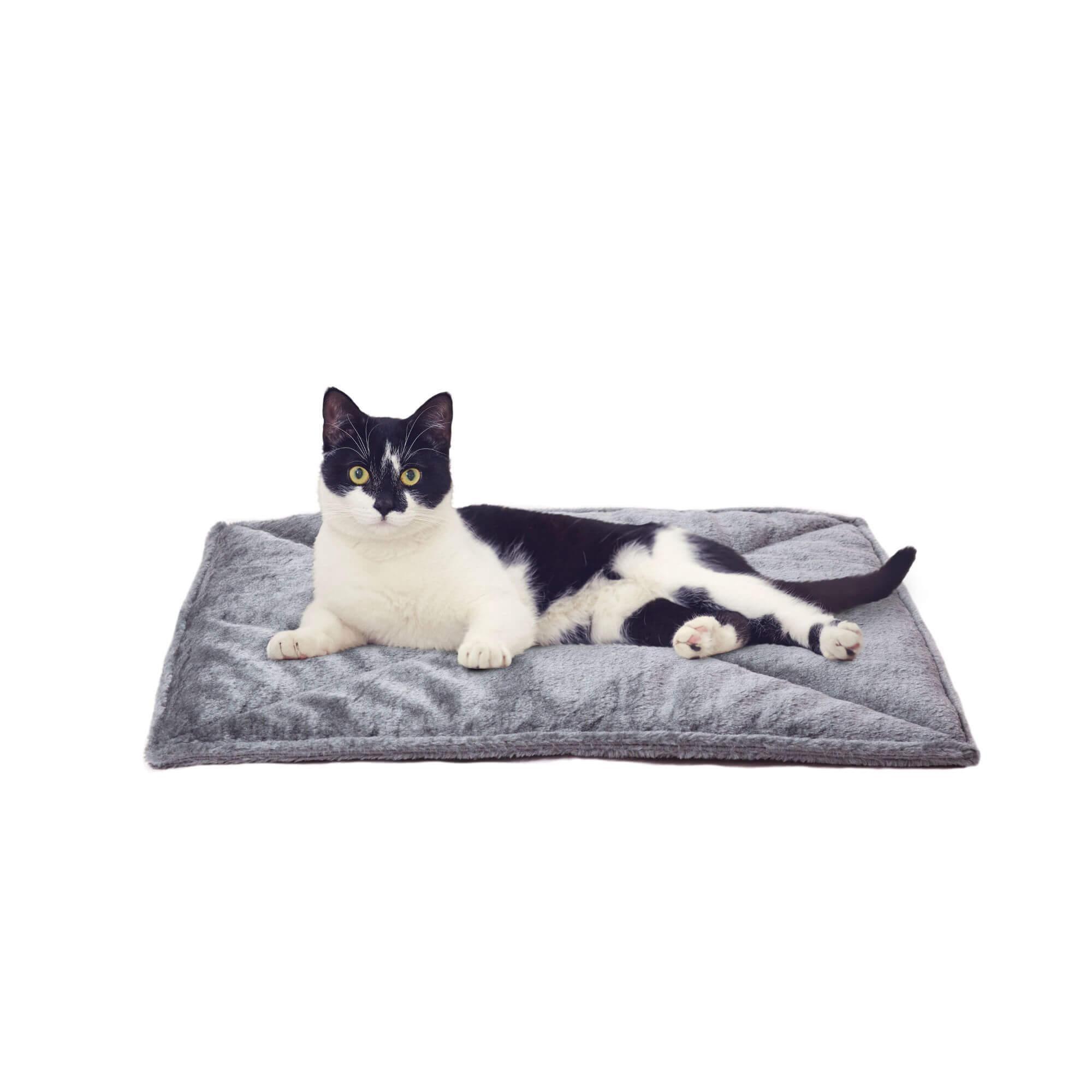 ThermaNAP Faux Fur SelfWarming Pet Mat Gray Pet mat