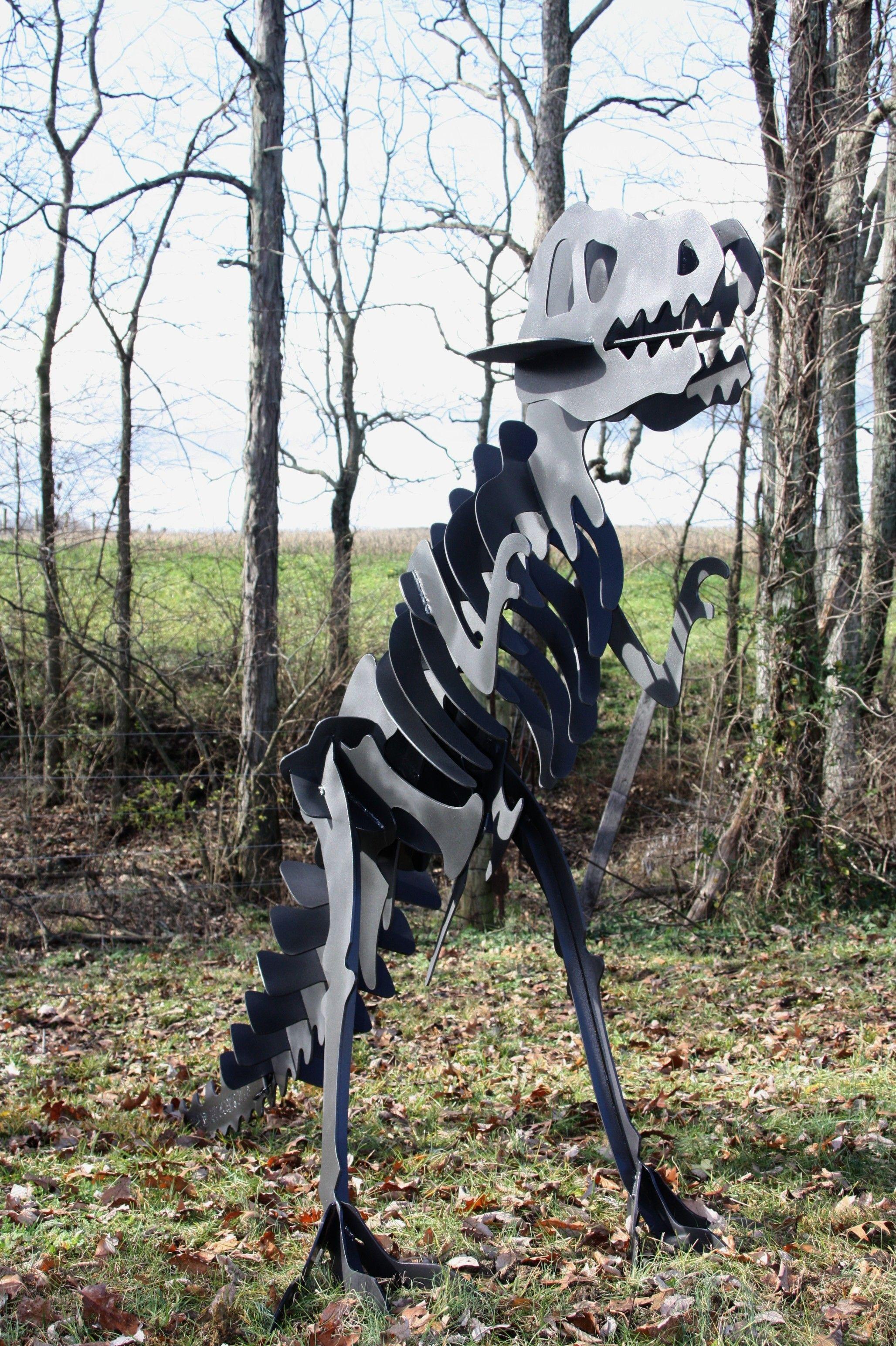 6 Foot T-Rex Skeleton by Phoenix Creative Metal