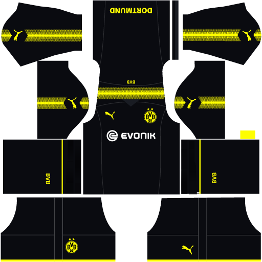 Borussia Dortmund 2019 2020 Kits Dream League Soccer Borussia Dortmund Dortmund Soccer Kits