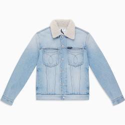 Calvin Klein Sherpa Trucker-Jacke aus Denim L - Extra Sale Calvin Klein #halloweencostumesformen