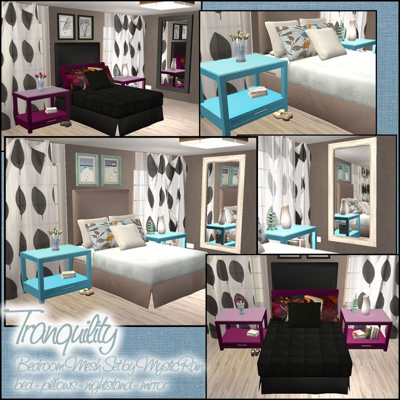 Sims 2 Tranquility Bedroom Mesh Set And Recolor S Blackpearlsims