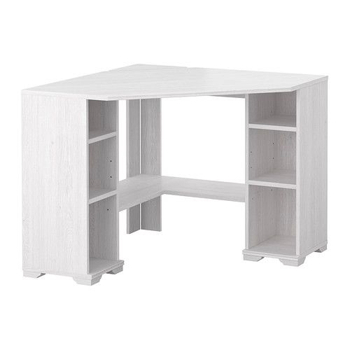 Borgsj corner desk white white 36 5 8x36 5 8 teen desks pinterest desk corner desk and room - Ikea borgsjo scrivania angolare ...