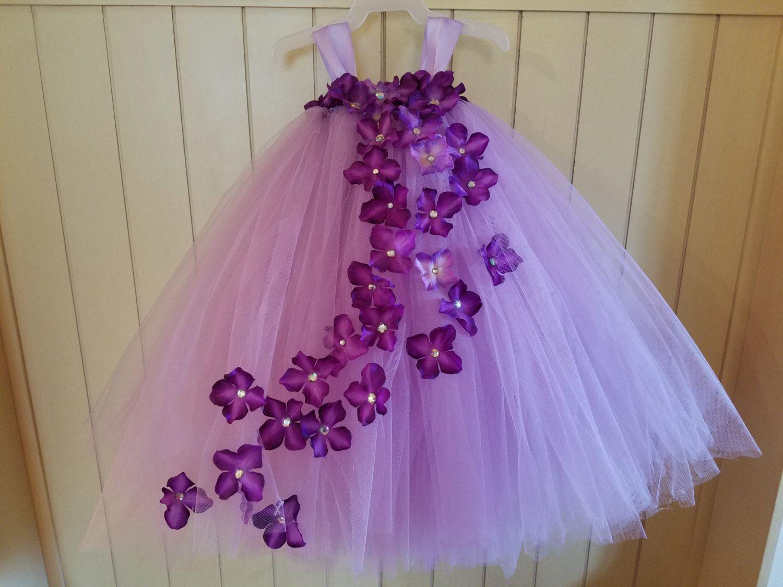 Vestido de flor morada por BandCtutus en Etsy | tutus | Pinterest ...