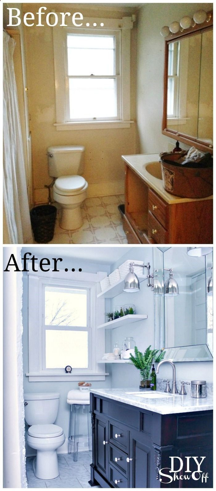 Bathroom Before and After - DIY Show Off - DIY Decorating and Home ...