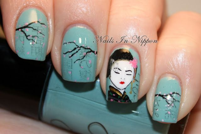 Nails In Nippon: More Cherry Blossoms, Geisha, And Newsprint