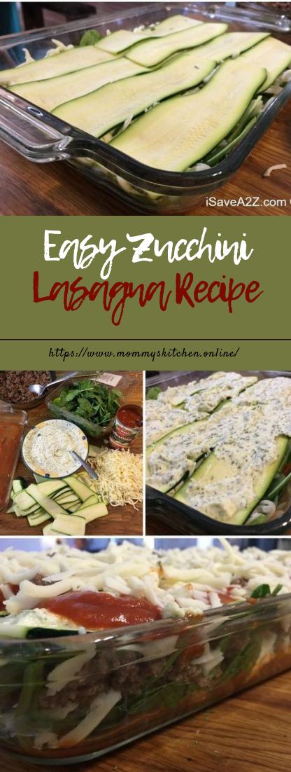 Easy Zucchini Lasagna Recipe #healthyrecipe #zucchini images