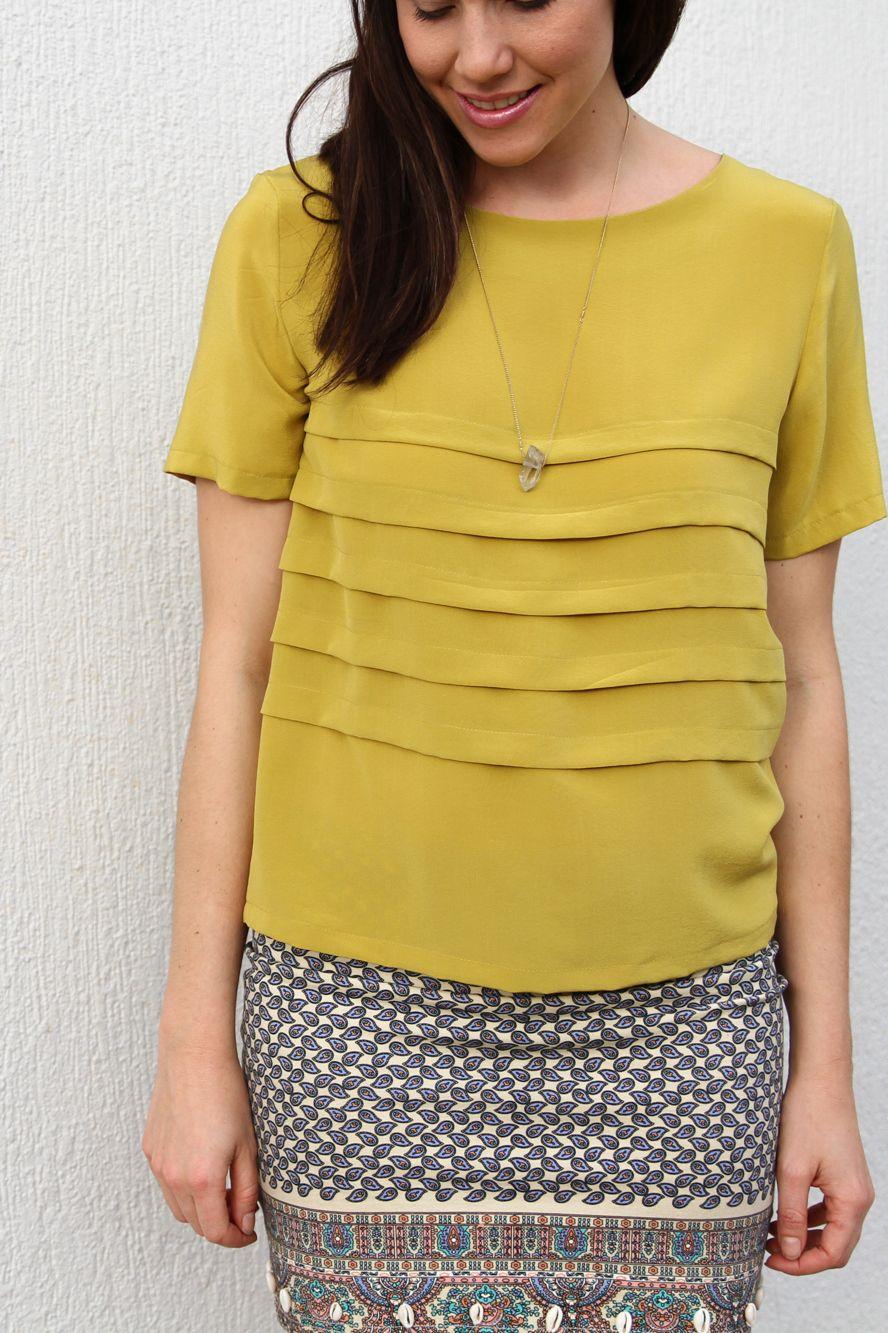 ADA SPRAGG // DIY PLEATED T-SHIRT BY SALME PATTERNS | Sewing ...