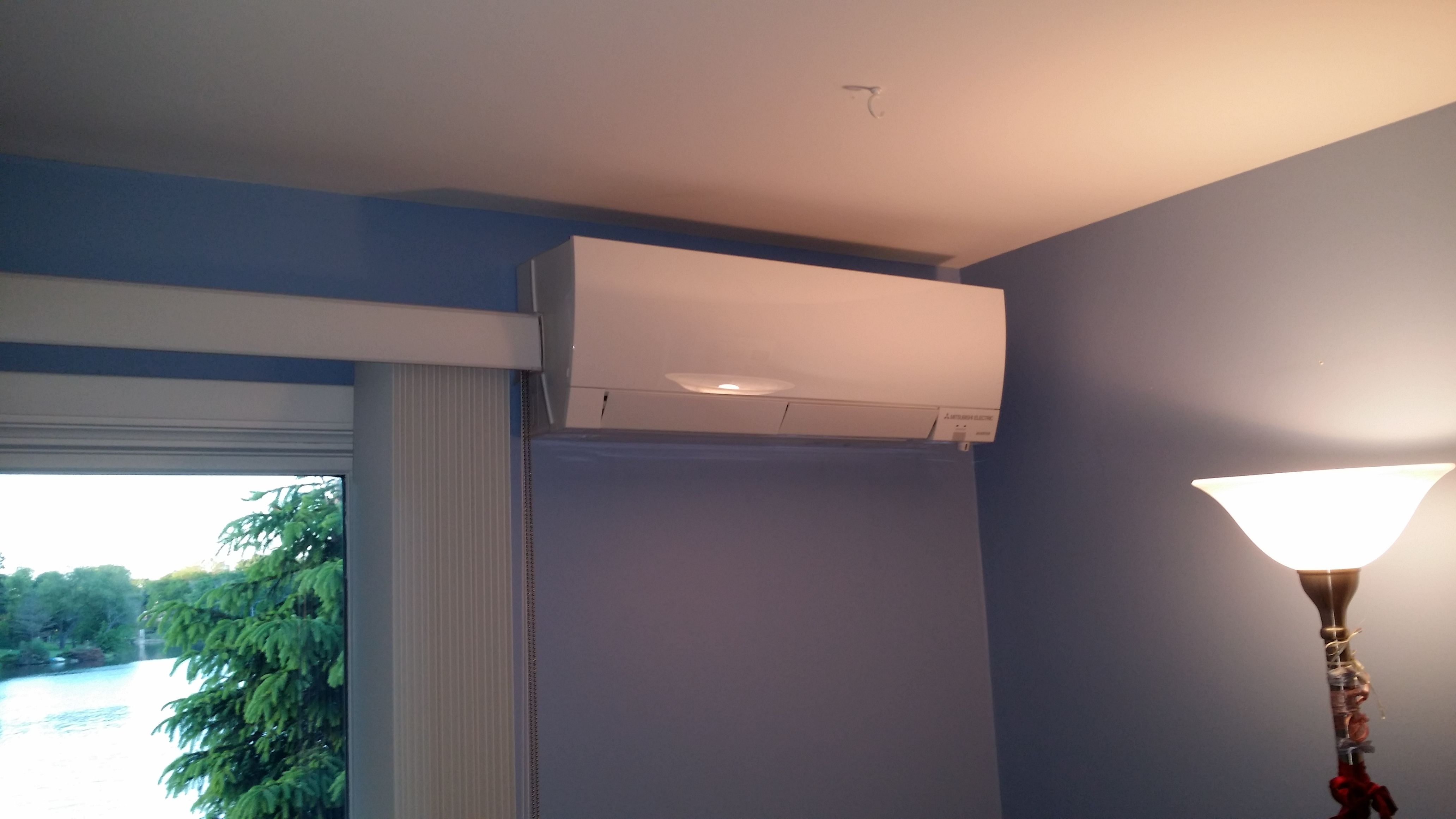 Mitsubishi Hyper Heating indoor wall mount unit installed by ...