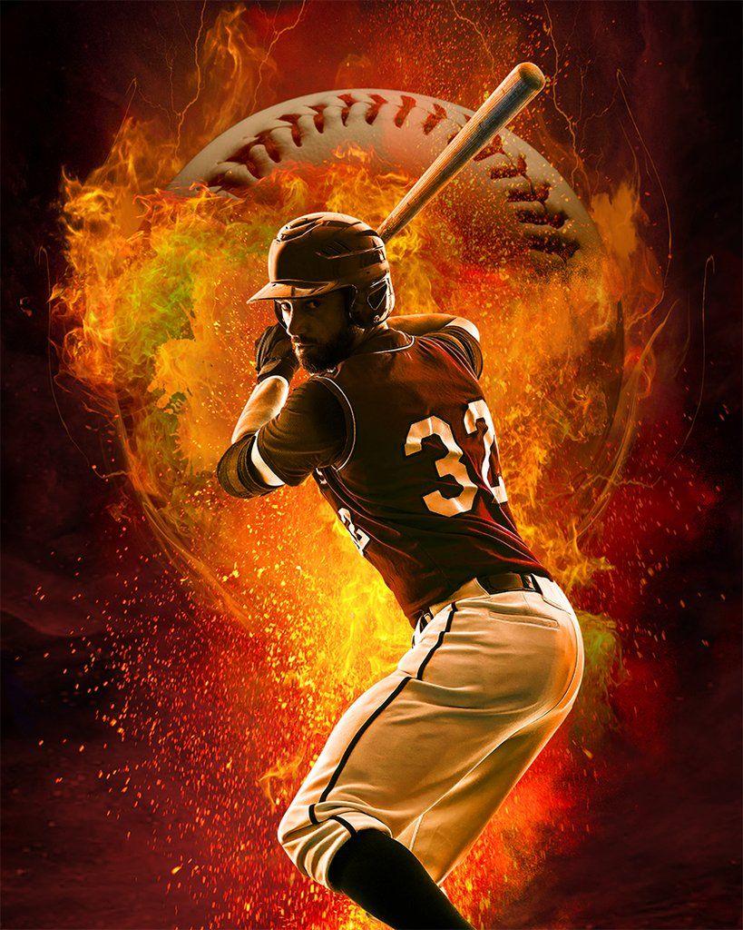 Baseball Fire Background Baseball Wallpaper Learn Photoshop