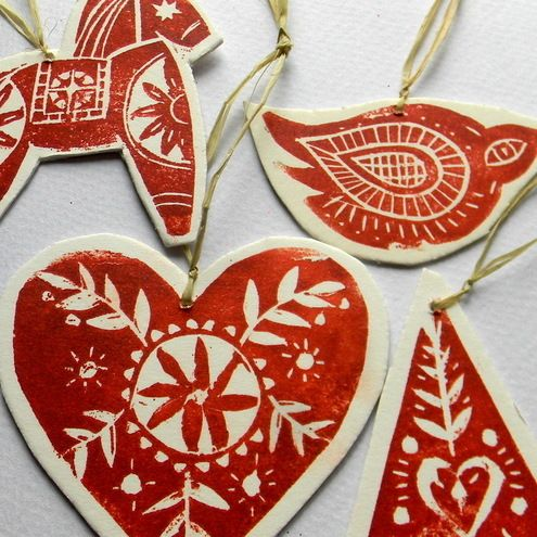 Scandinavian Christmas ornaments by Samantha Luck | Joy To The ...