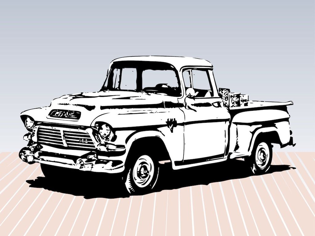 Vintage trucks old trucks ford pick up gmc pickup monster trucks clip art woodburning vectors shop ideas