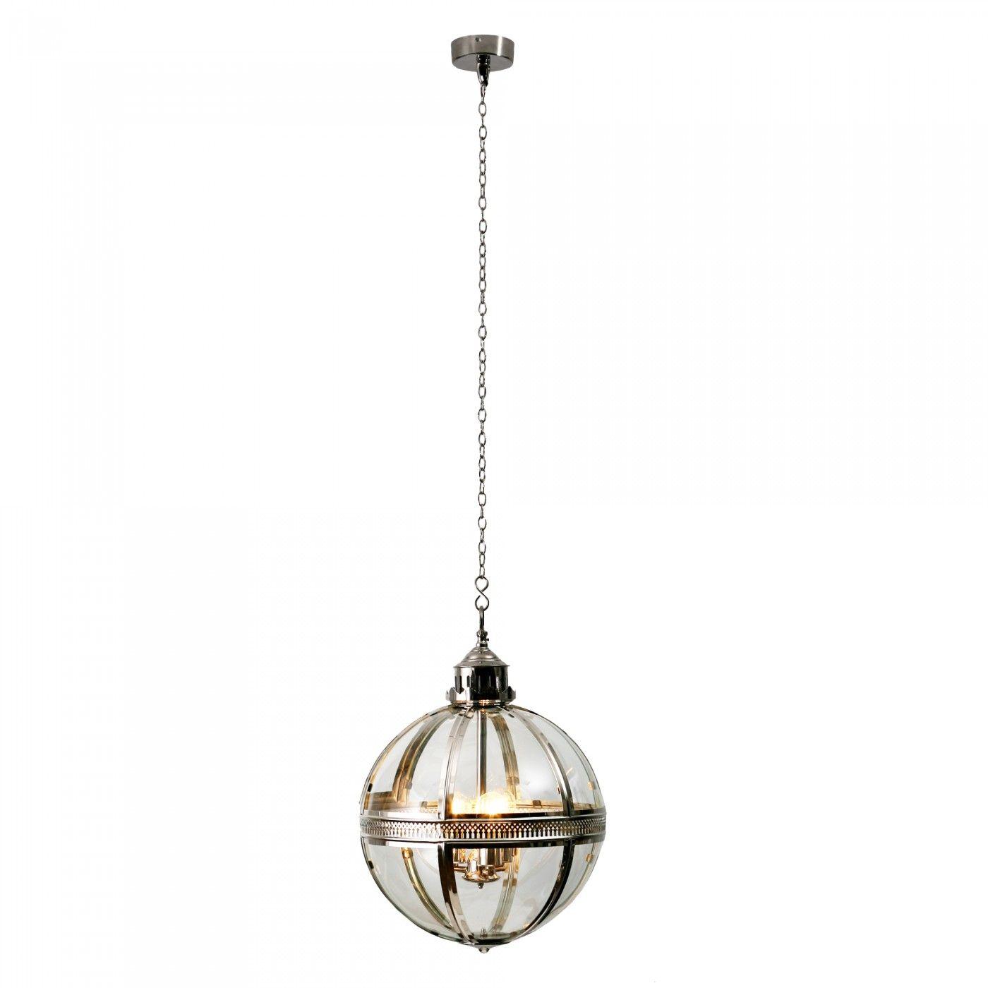 Orb Nickel Pendant - Ceiling Lights
