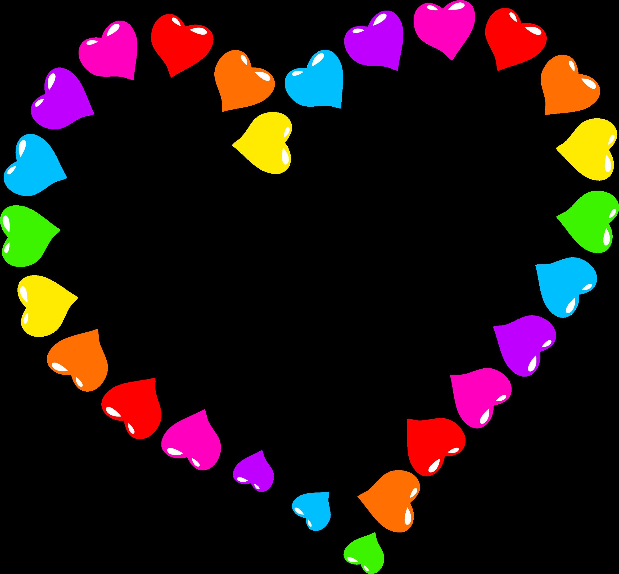 Rainbow Heart Png 2339 2169 Corazones Marcos Con Flores Fondo Corazones