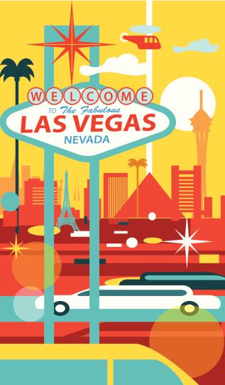 TRAVEL POSTER Welcome to Fabulous Las Vegas Night
