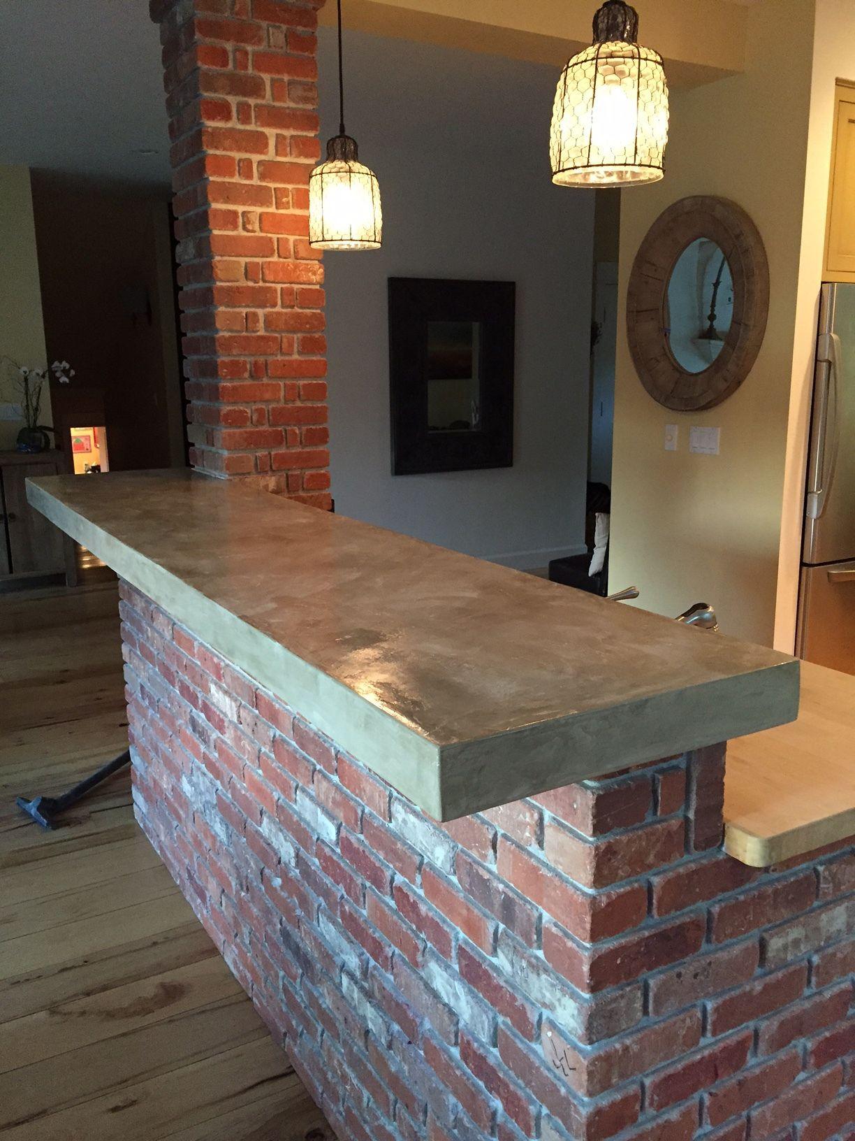 concrete overlay on tile | parents kitchen | pinterest | concrete
