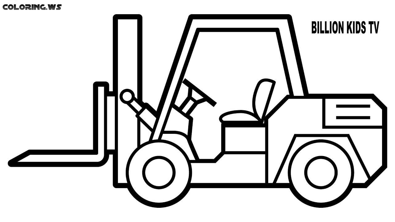 Forklift Truck Coloring Pages Truck Coloring Pages In