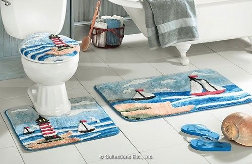 Lighthouse Bath Rug Set Area Ideas