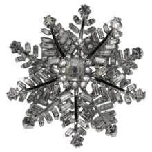 SPECTACULAR Corocraft 1950's 3D Snowflake Brooch...really stunning!