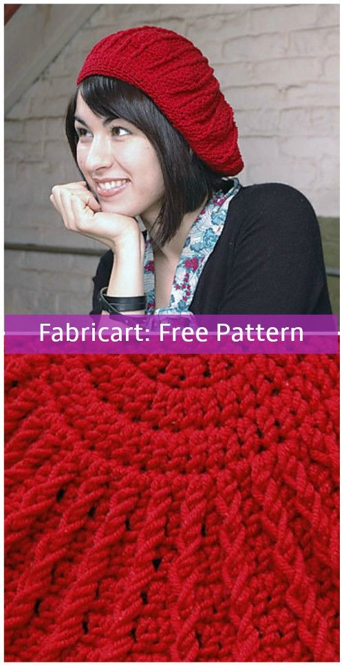 Crochet Phannie Sunburst Beret Hat Free Pattern | hats | Pinterest ...