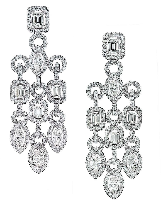 Red carpet jewels from the amfAR gala in Cannes – Black Diamond Chandelier Earrings