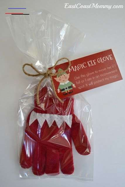 FREE tags for Elf on the Shelf Magic Glove #elfontheshelfarrival How cute is this little glove? It's easy to make and it's full of Christmas magic! :-) #ElfontheShelf #ElfontheShelfIdeas #ChristmasMagic<br>