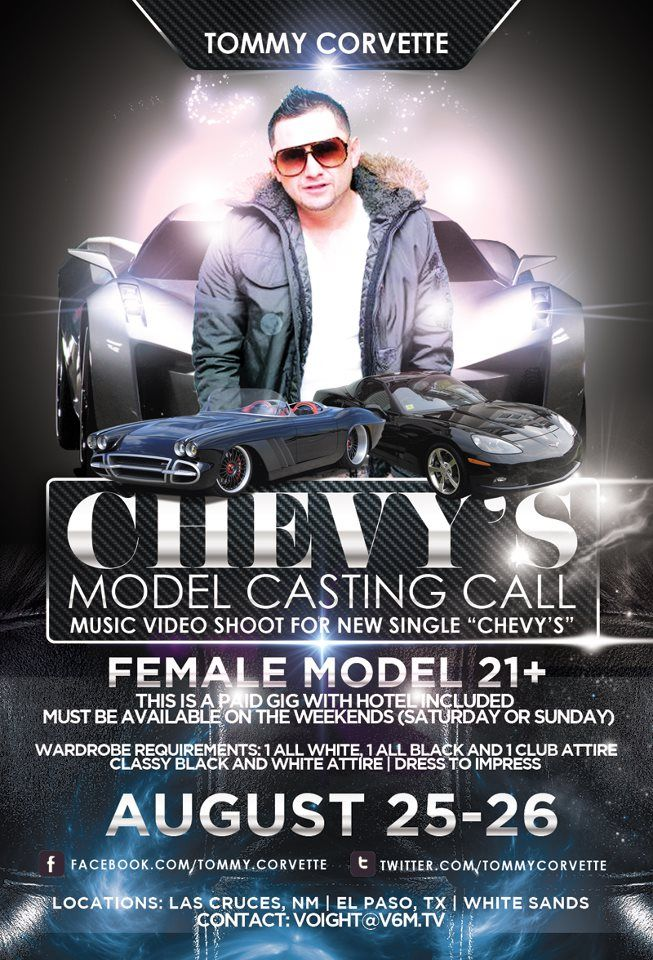 "Model Casting Call – Tommy Corvette ""Chevy's"" [PAID] 