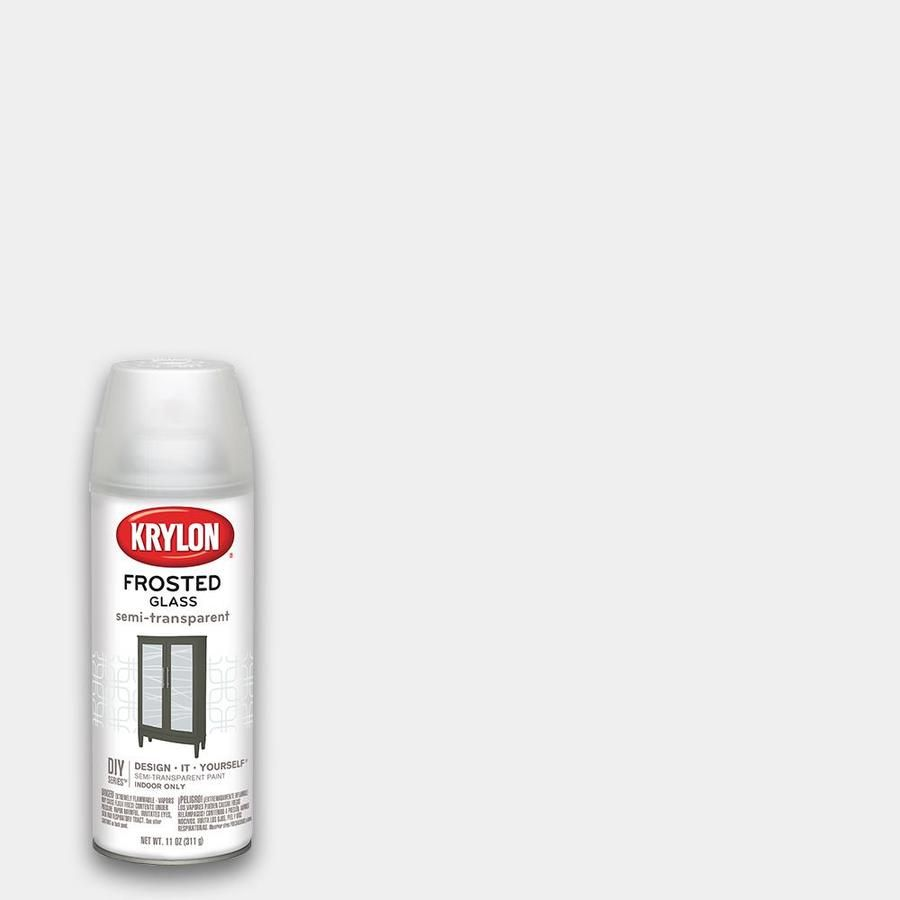 Krylon Flat White Frosted Spray Paint Actual Net Contents 11 Oz