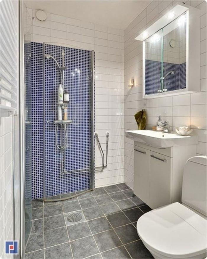 Badezimmer Graue Fliesen Und: 1001 + Badezimmer Ideen Für Kleine Bäder Zum Erstaunen