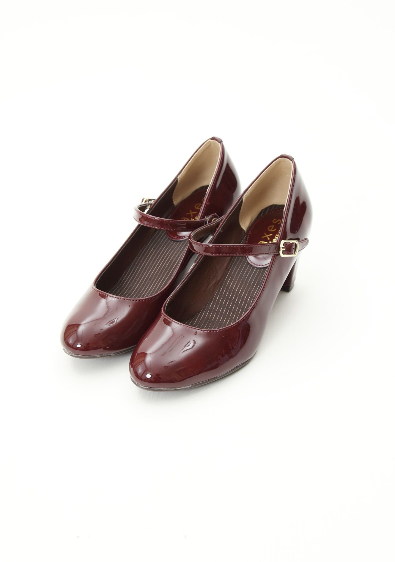 axes femme online shop エナメル&ベロアパンプス