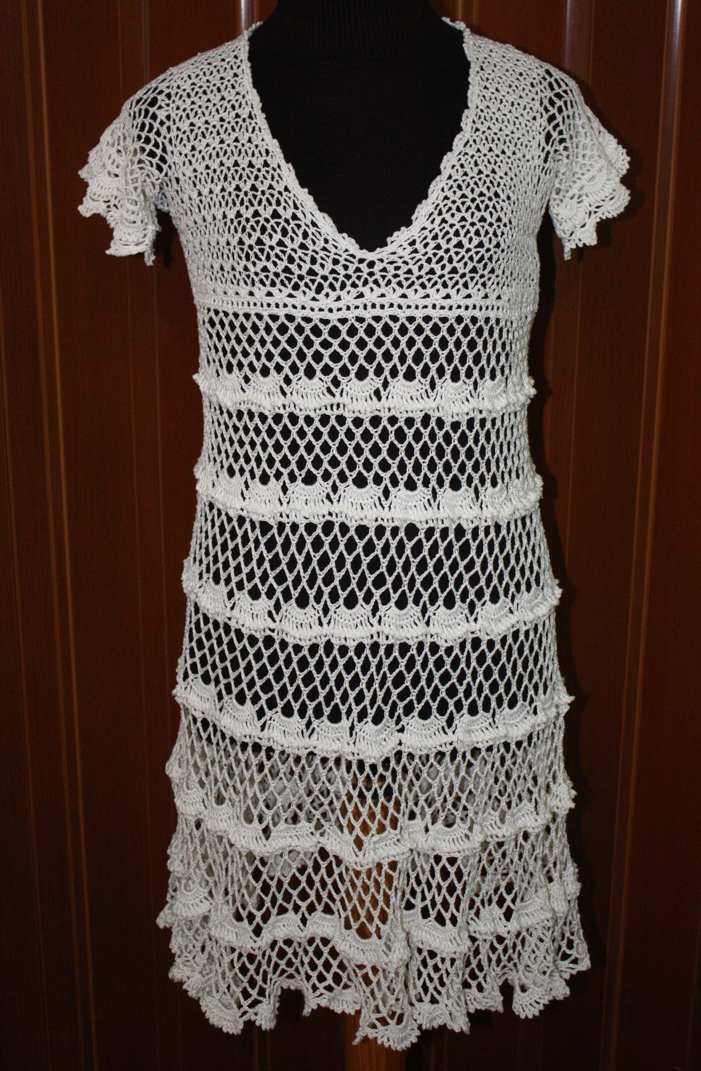 Vestido de crochet en lneas muy calado encaje i crochet vestido de crochet en lneas muy calado bankloansurffo Image collections