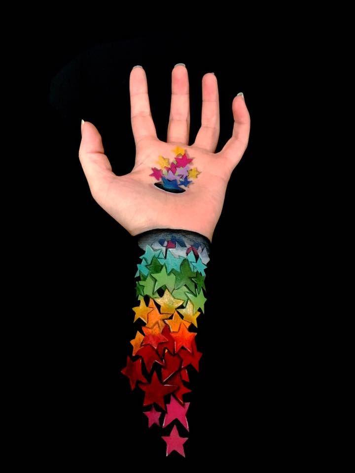 Maquiadora Profissional Cria Impressionantes Ilusoes De Otica No Proprio Braco Body Painting Hand Art Illusion Paintings