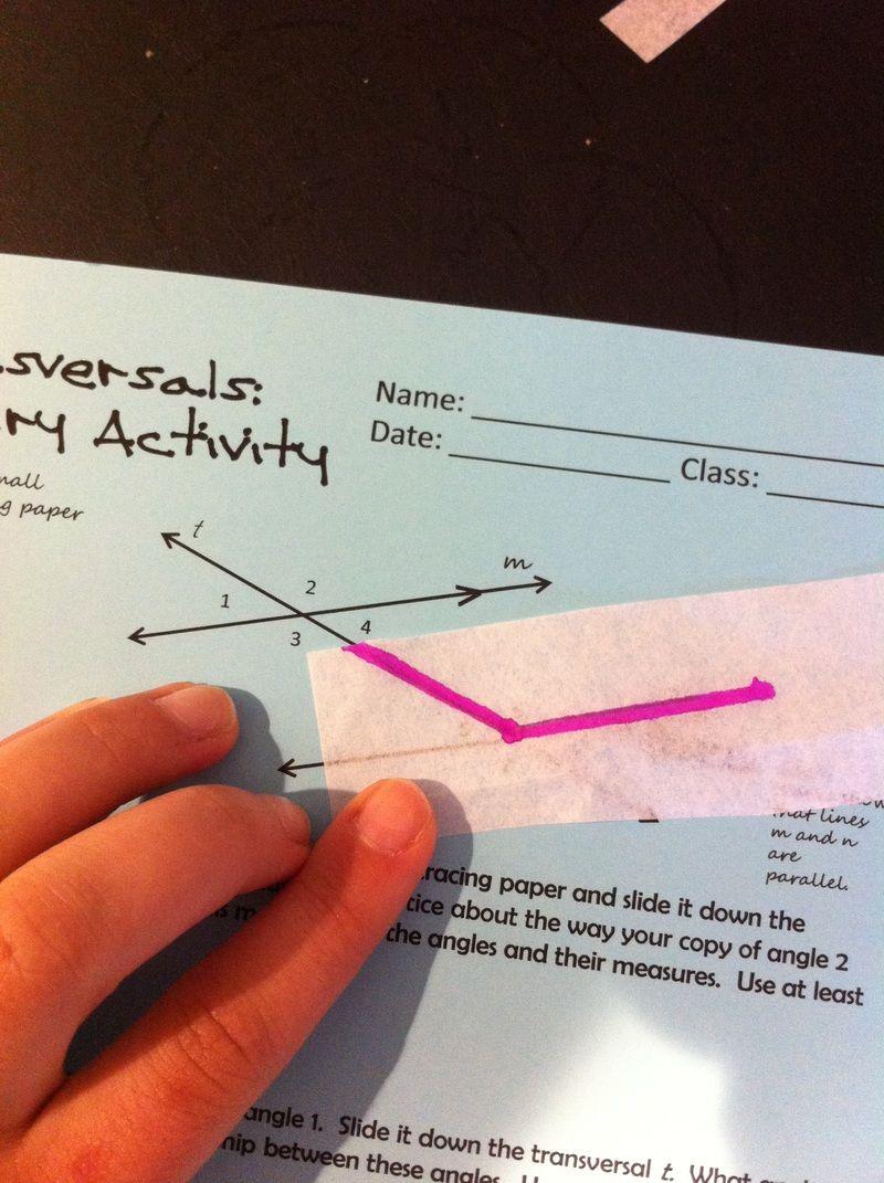 Transversals & Parallel Lines Inquiry Activity blog post
