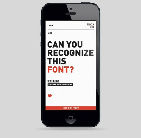 'Font Nerd' App Challenges Typography Geeks To Identify The Type - DesignTAXI.com