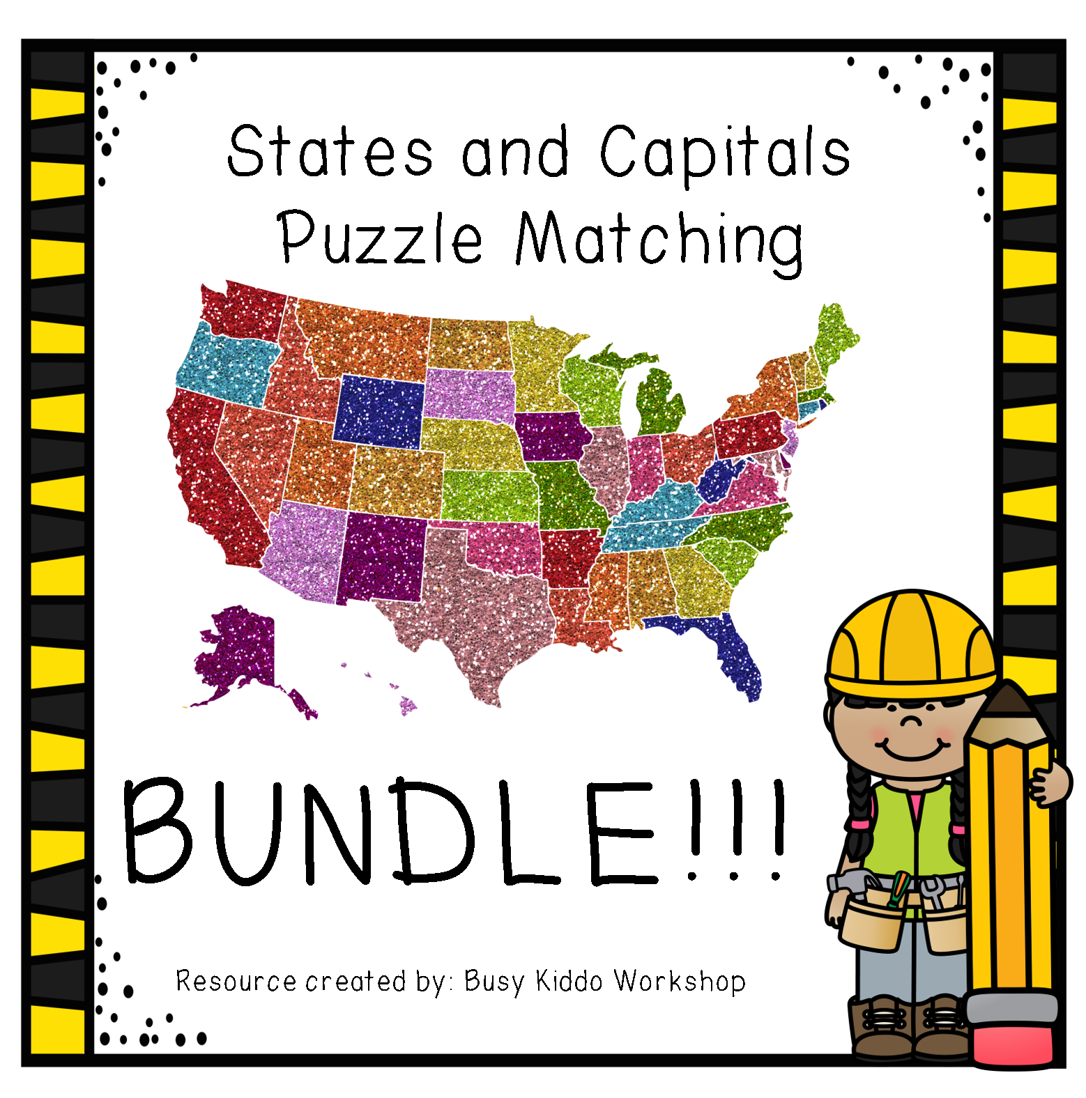Bundle States And Capitals Puzzle Matching