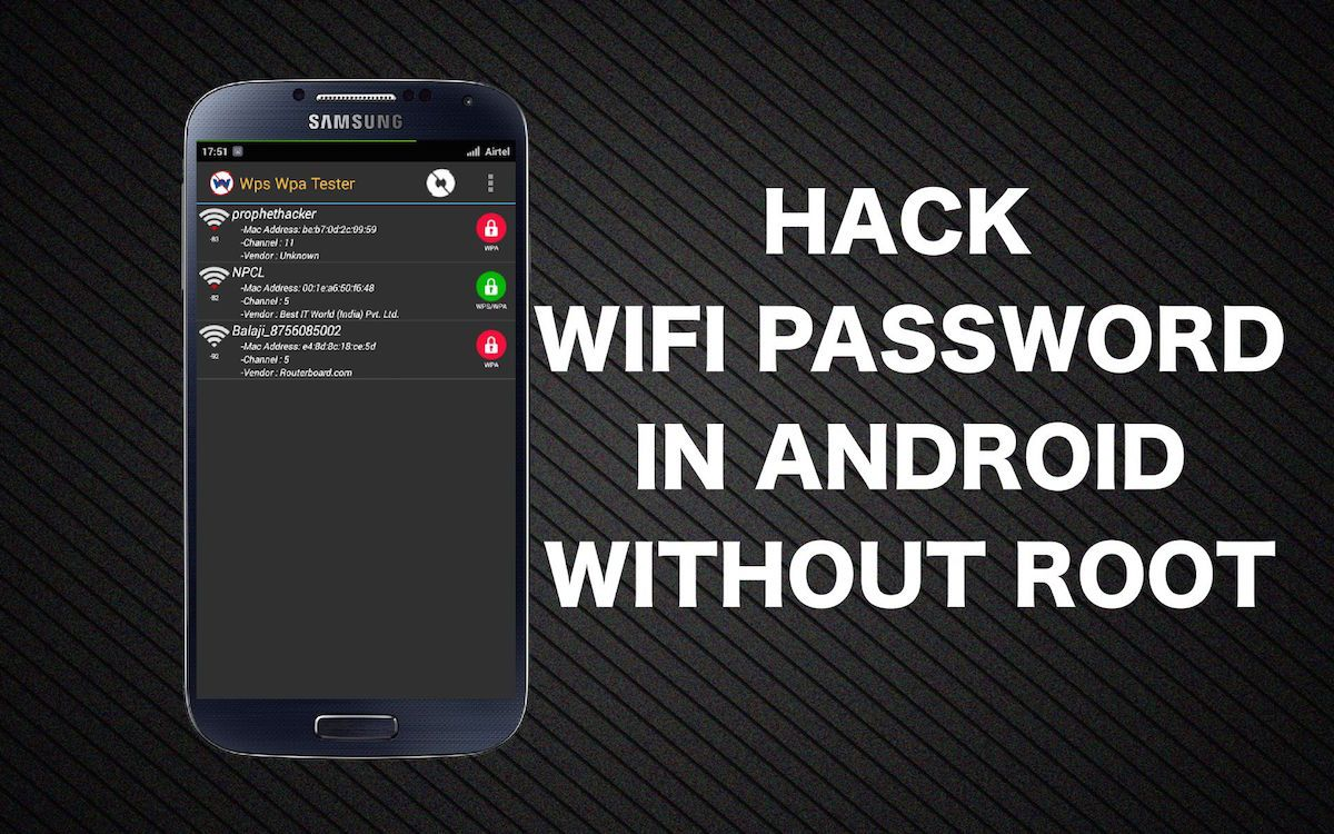 Hack WiFi Password in android mobile without rooting your