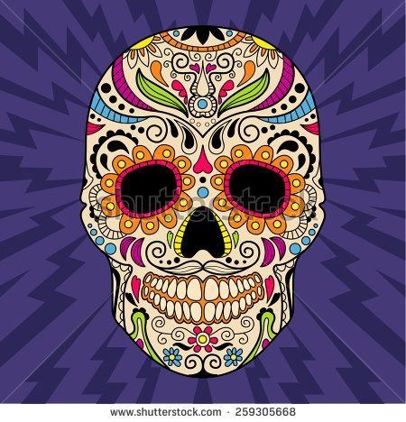 Mexican Skull The Original Pattern Vector Illustration